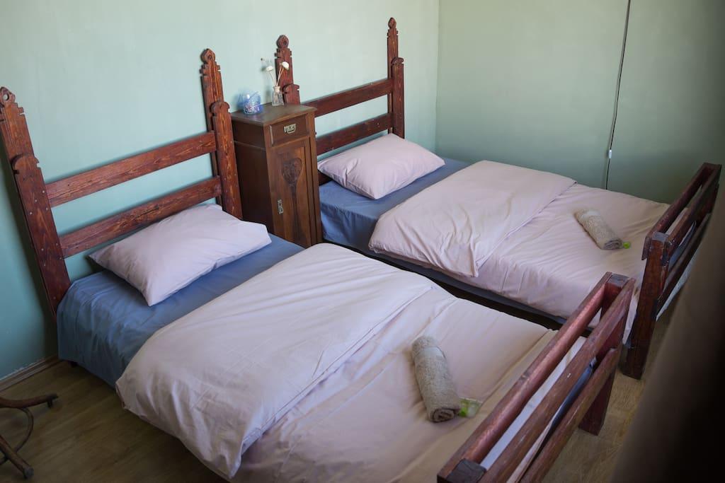Небольшой двухместный номер с 1 кроватью