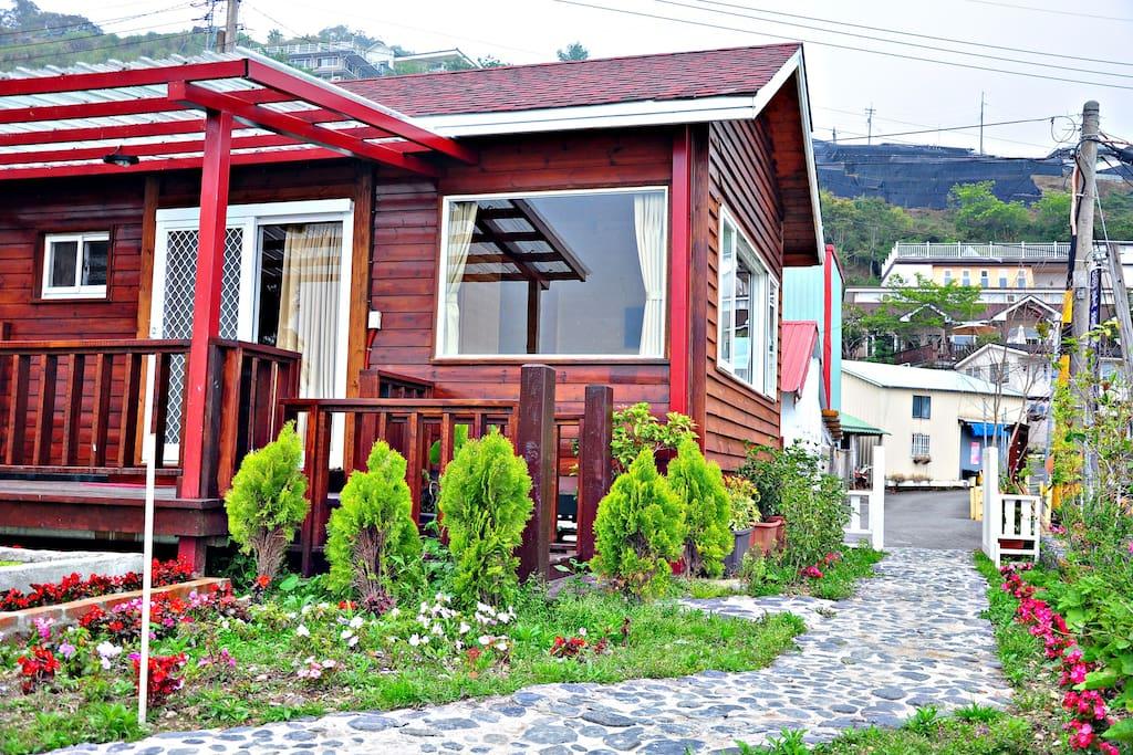 獨棟小木屋入口