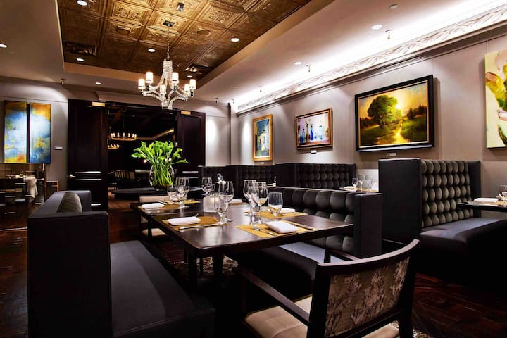The Gallery Restaurant at The Ballantyne Hotel and Spa —- Looking for a fine dining experience?  Allow us to make your reservations at The Gallery Restaurant!