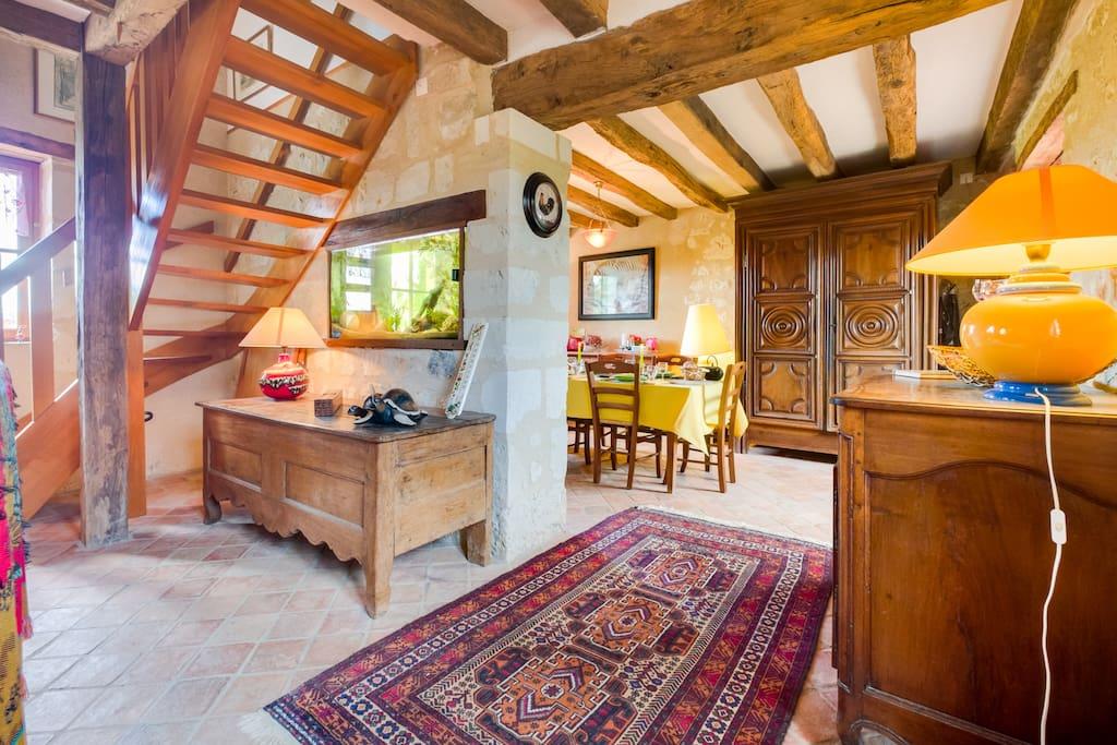 les perdrix rouges houses for rent in vernoil le fourrier. Black Bedroom Furniture Sets. Home Design Ideas