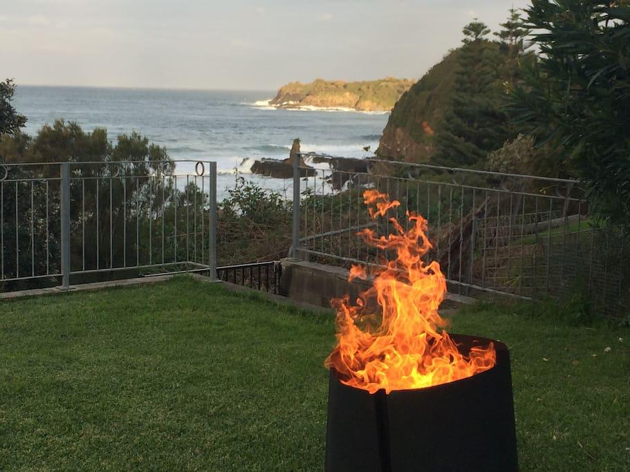 Outdoor fires in winter