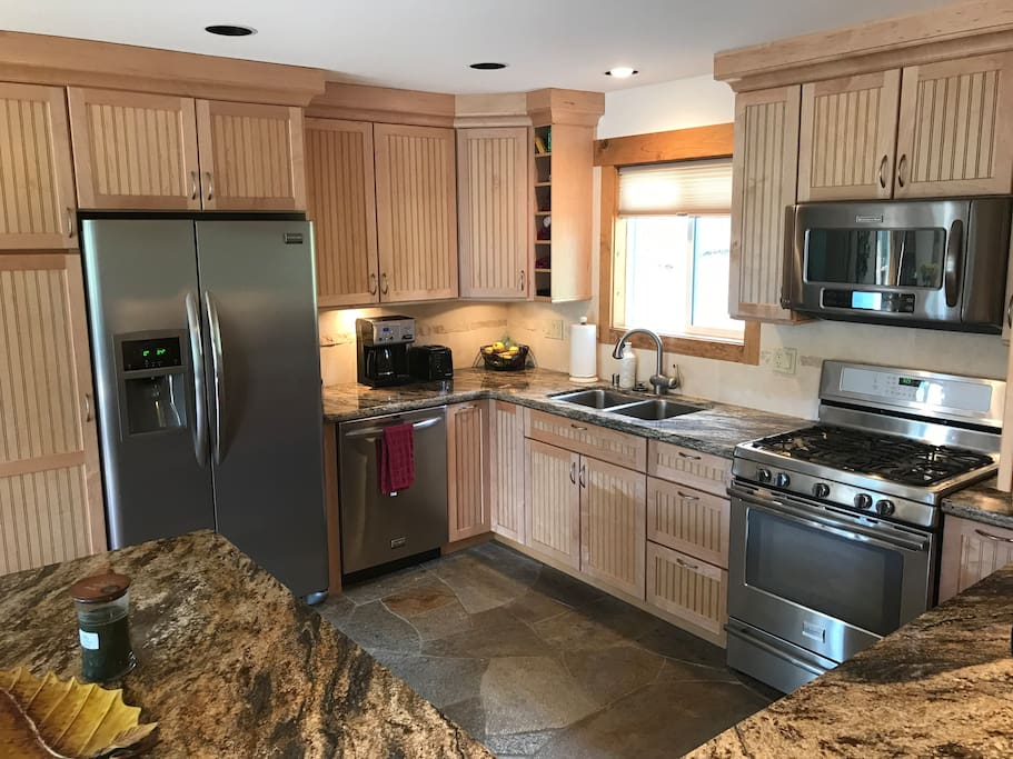 Kitchen - large and open to the living area...