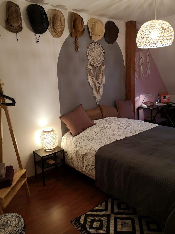 Chambre au calme, proximité Strasbourg (20km)