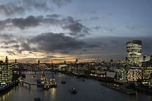 London - The Shard on the South Bank of the River Thames, and the City of London on the North Bank