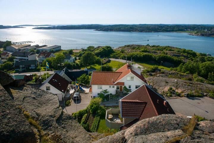 Storslagen utsikt i  Bovallstrand.