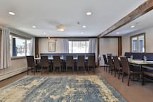 The dining room features seating for up to 20 people!
