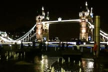 Tower Bridge: 10 minutes walk away