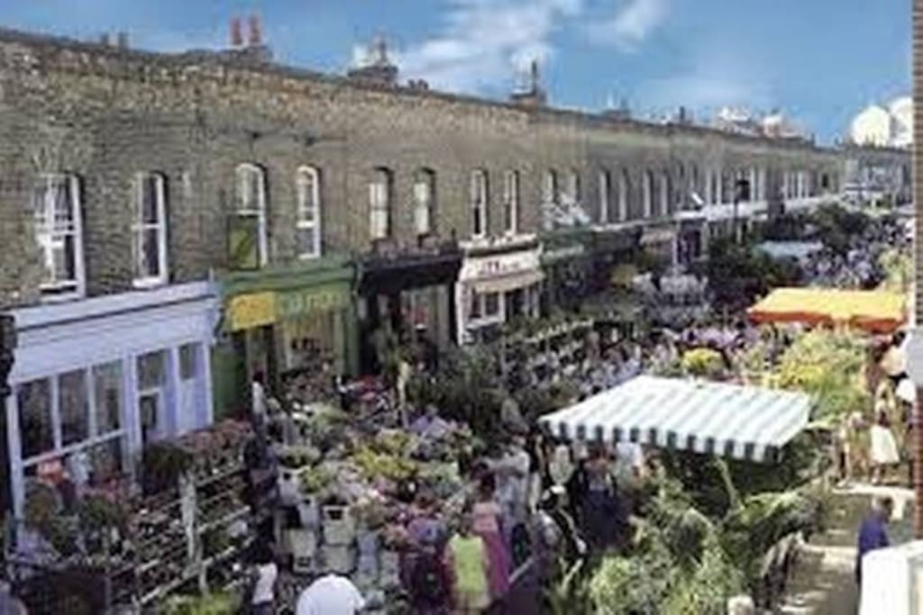 Famous Columbia Rd Market - just across the square - a must visit
