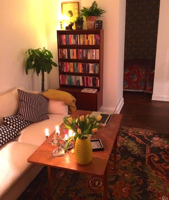 cosy livingroom with big sofa