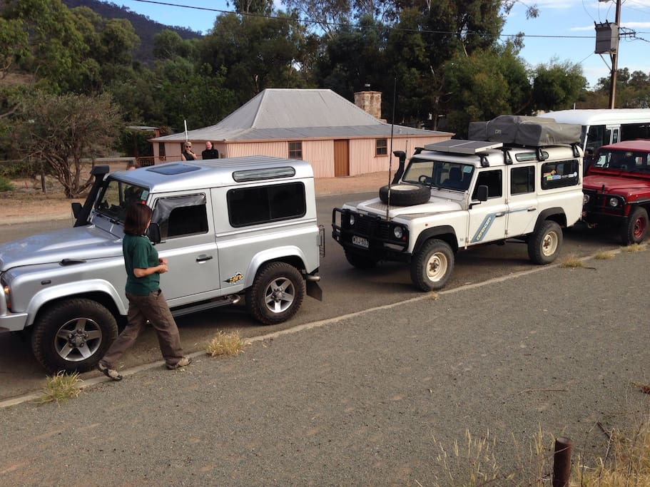 The Land Rover club came to visit our street