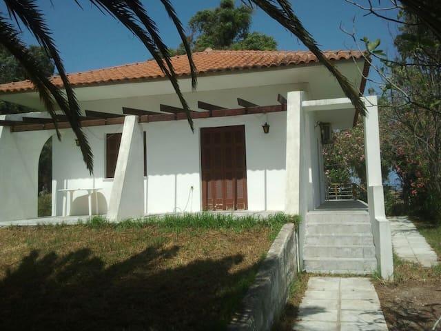 Beach villa. Direct sea access, family friendly.