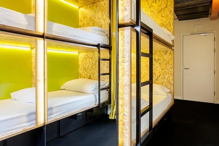 Bastardo Hostel Madrid - Bed in 4 people mixed dorm