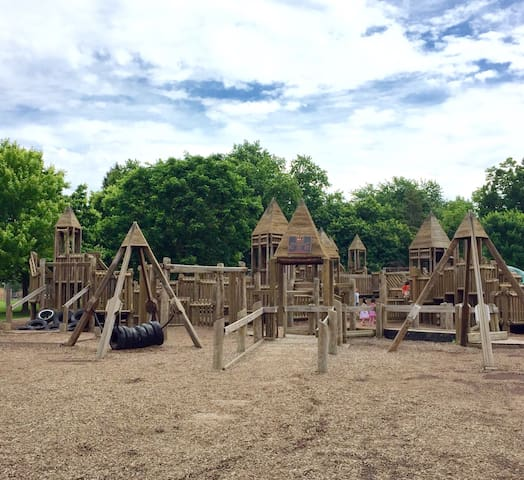 Also less than a mile away, is the awesome playground at Wycliffe Elementary School.