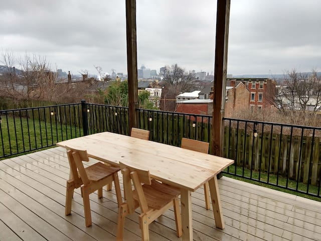 Great views in OTR, lots of parking & big yard!