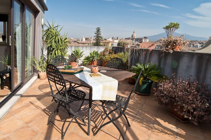 The Terrace, with a view on Etna - Catania - Apartmen