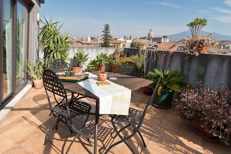 The Terrace, with a view on Etna - Katania - Apartament