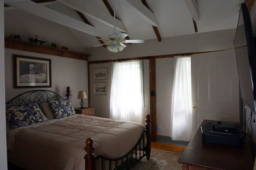 Comfortable bedroom.  Separate sleeping area with twin bed.