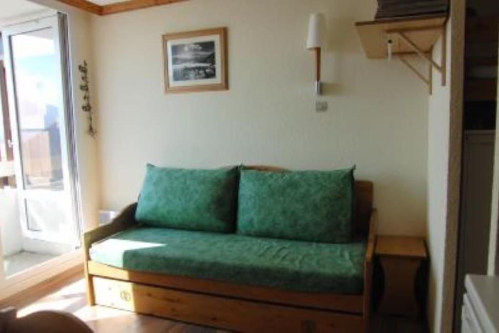canapé 2 couchages (2 lits de 90 cm)