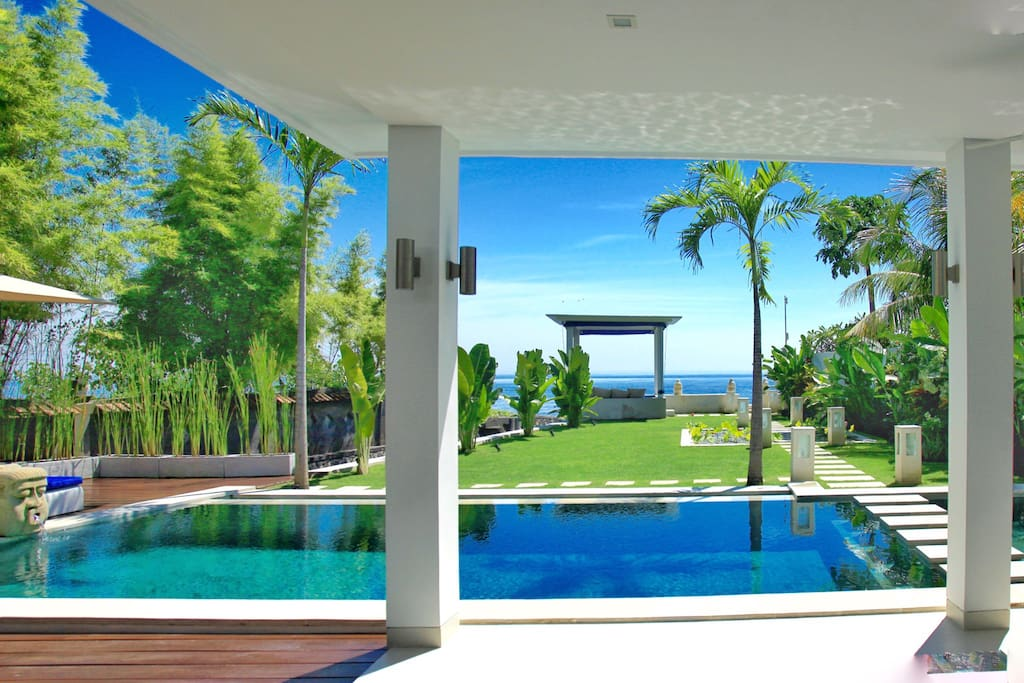 View from the villa.