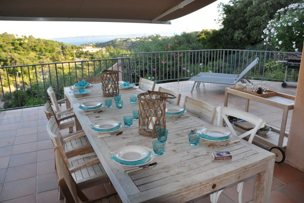 terras op niveau 1 aan keuken en living