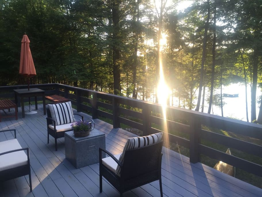 Deck with water view