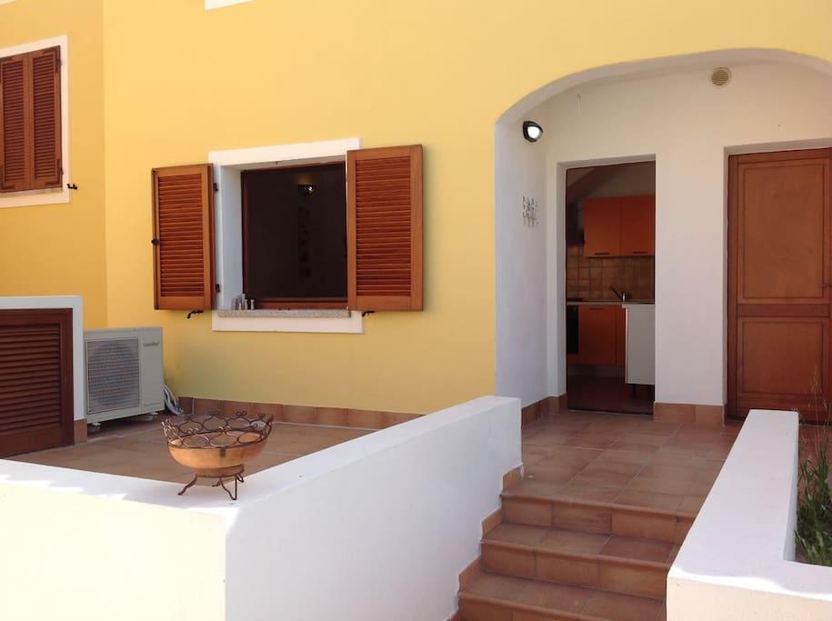 Ingresso e veranda privata