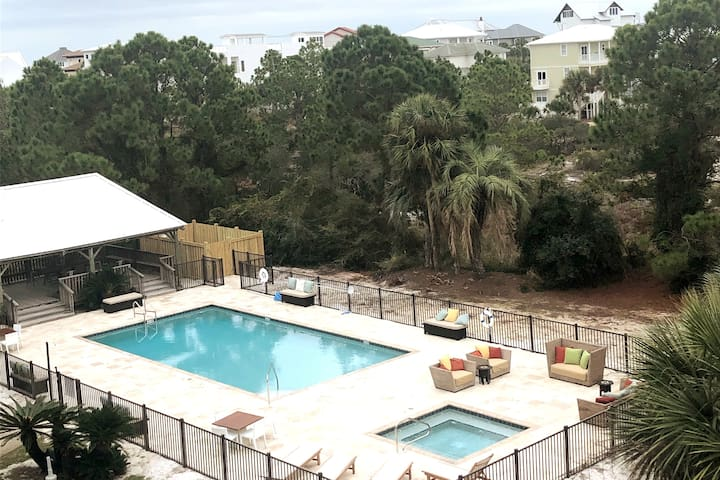 Updated Condo on 30A - NEW Heated Pool+Hot Tub!