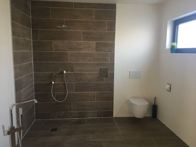 Bathroom with shower and toilet