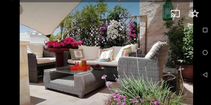 furnished roof apartment with a large terrace