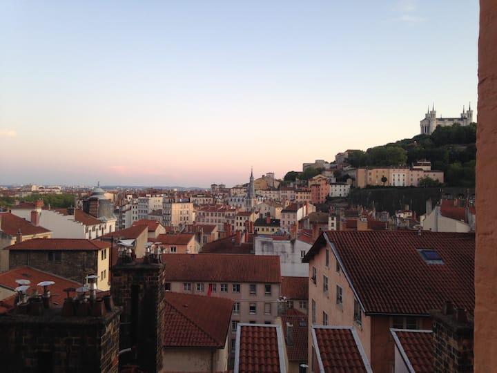* Sur les toits de la Croix Rousse *