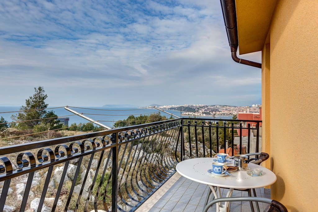 Balcony with a sea view