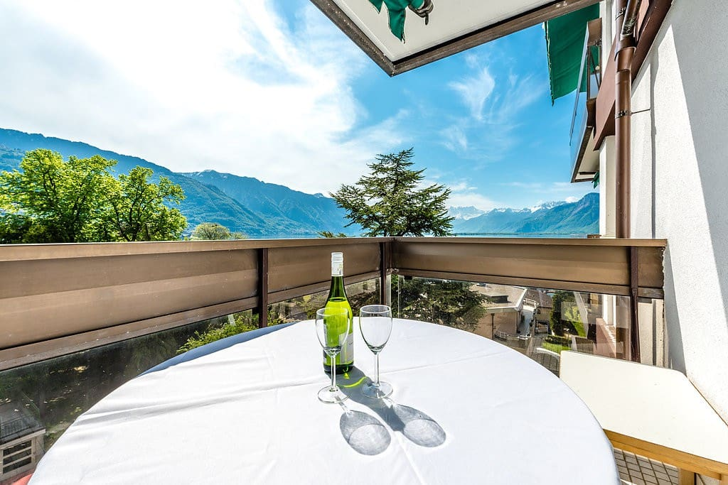 Breathtaking lake and mountain view from main balcony