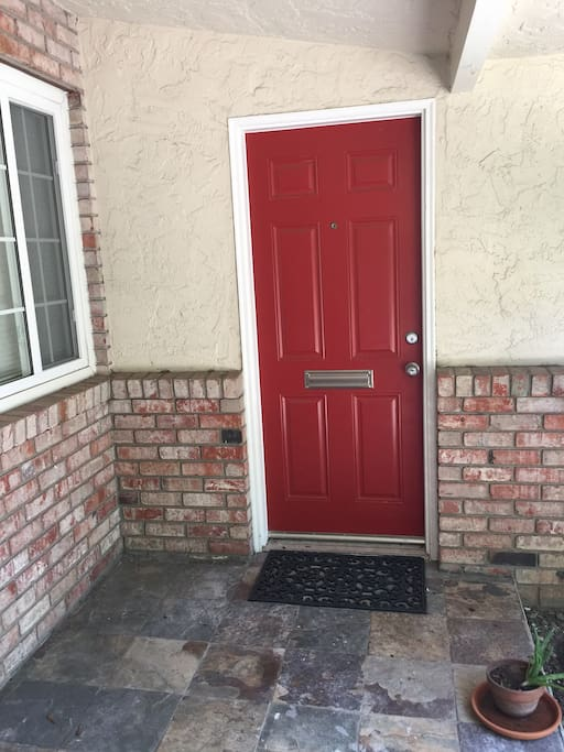 Guest's own exterior entrance door