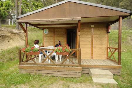 Bungalow gitotel con baño para 5 p. - Saldes - Zomerhuis/Cottage