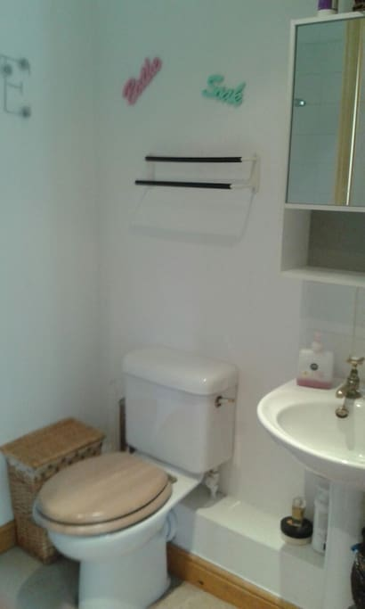 Private En-suite shower/sink/WC...loads of hot water!