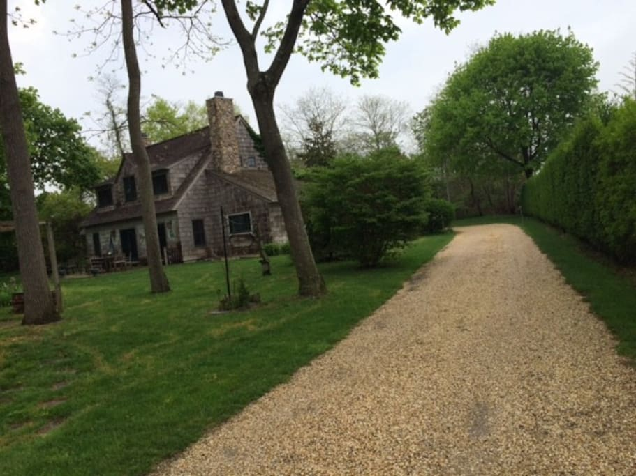 long private driveway, close to all yet private and secluded