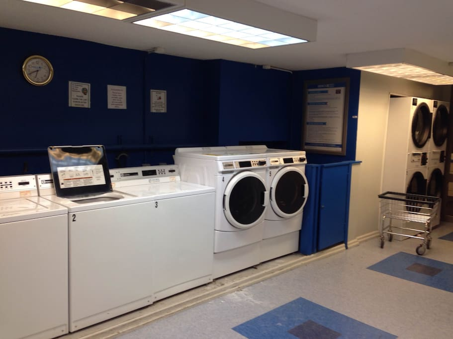 Laundry room in the building, right next to our apartment!