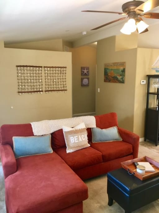 Couch with pull out queen bed