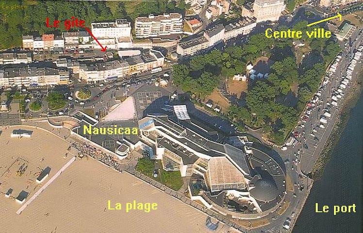 Vue aérienne du quartier.
