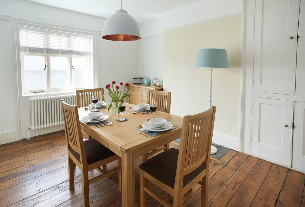 Ground floor: Dining room with sea views