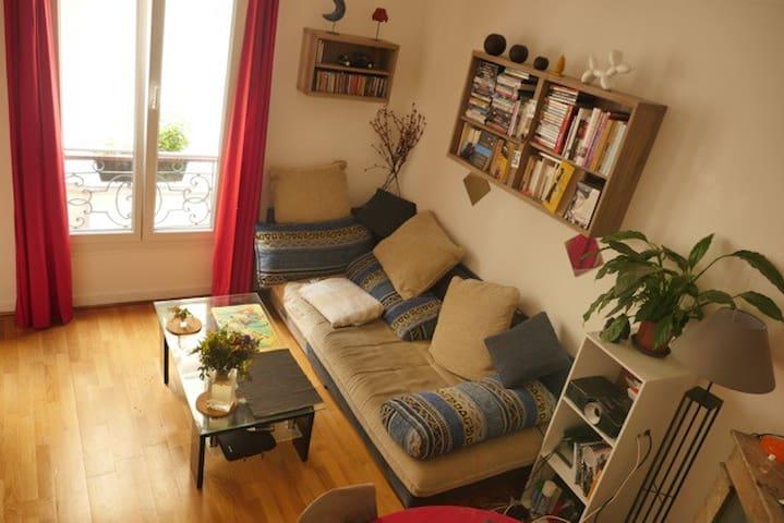 T2 cosy 37 m2 aux Buttes Chaumont - Paris - Apartment