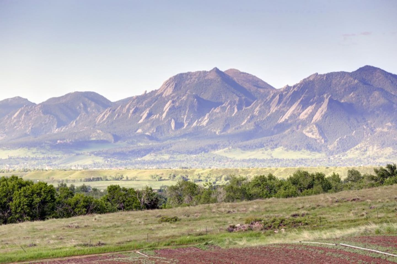 Flatirons over Boulder