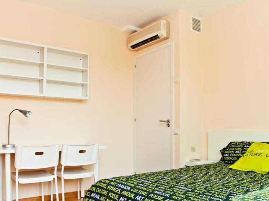 Air-Condition and Heat Pump inside room