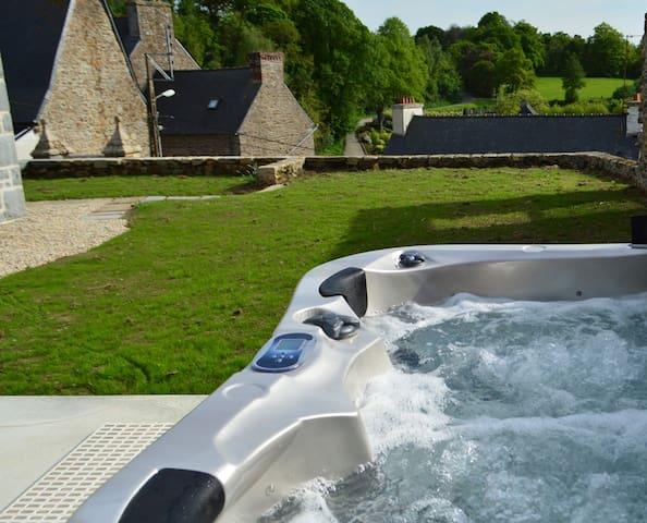 Maison du Châté, jardin, spa - Châtelaudren
