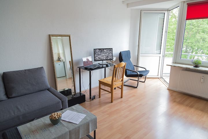 Cosy flat with balcony and quiet surroundings