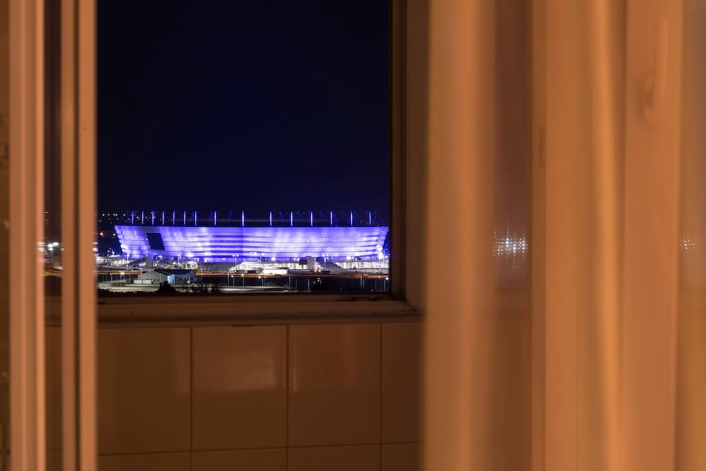 Вид из окна на Стадион Калининград / View from a window at Kaliningrad Stadium FIFA-2018