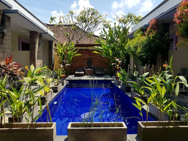 Beautiful double Room with Pool-view in Sanur