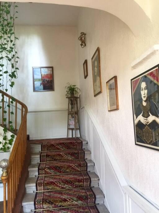 escalier d'accès