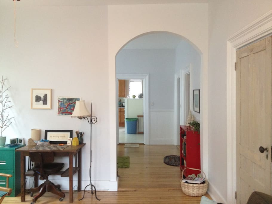 Living Room, entrance to dining room.