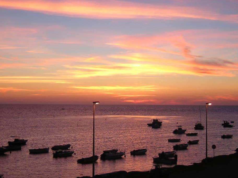 splendido tramonto al lido biscione dal terrazzo